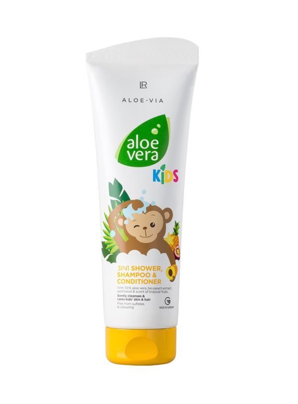 Aloe Vera Kids 3в1 Душ гел, шампоан и балсам