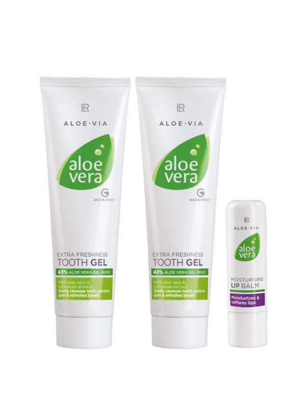 Aloe Vera Комплект за грижа за устните и зъбите