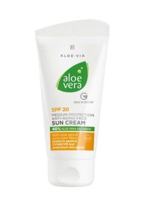 Aloe Vera Слънцезащитен крем против бръчки с фактор 20